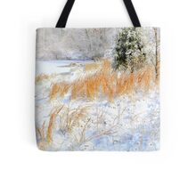 Peaceful Snow Scene Tote Bag