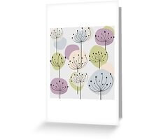 Pastel dandelion flowers background Greeting Card