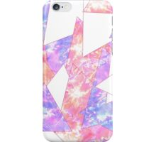 Colorful Bright Geometric Watercolor Paint Pattern iPhone Case/Skin