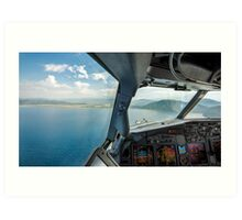 Approaching the airport Art Print