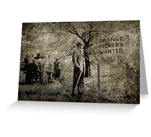 Orange Pickers Wanted Greeting Card