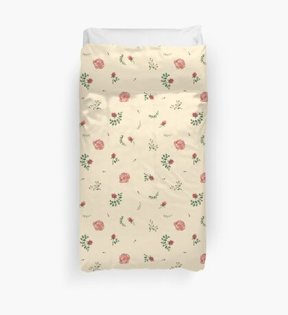 flowers watercolor of floral rose seamless pattern Duvet Cover