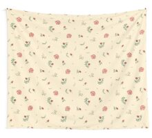 flowers watercolor of floral rose seamless pattern Wall Tapestry