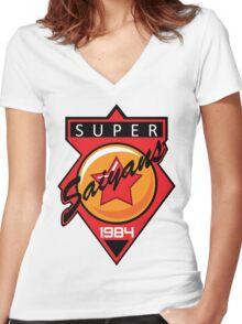 Super Saiyans Baseball Women's Fitted V-Neck T-Shirt