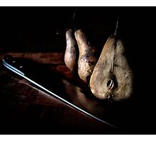 sliced pears Photographic Print