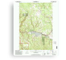 USGS Topo Map Oregon Lehman Springs 280503 1995 24000 Canvas Print