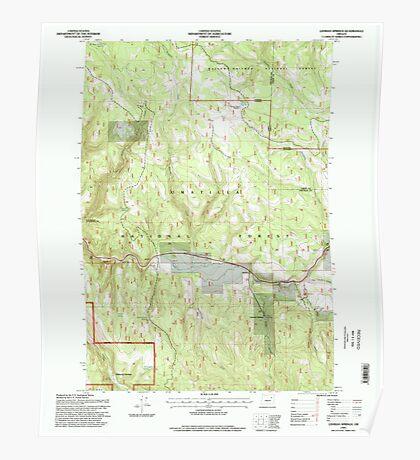 USGS Topo Map Oregon Lehman Springs 280503 1995 24000 Poster