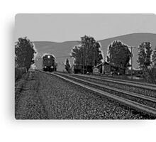 RIDE THE LITTLE TRAIN Canvas Print