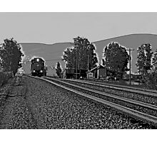 RIDE THE LITTLE TRAIN Photographic Print