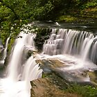 Hepste and Melte waterfalls Brecon Beacons by Cliff Williams