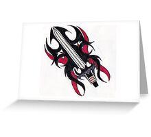 tribel sword Greeting Card