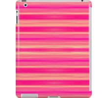 Coral and Pink Brush Stroke Painted Stripes iPad Case/Skin