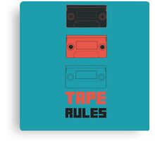Tape Rules Canvas Print