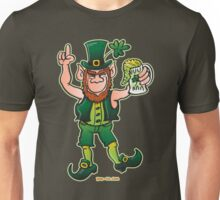 Saint Patrick's Day Leprechaun Drinking Beer Unisex T-Shirt