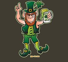 Saint Patrick's Day Leprechaun Drinking Beer Unisex T-Shirt