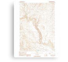 USGS Topo Map Oregon Becker Creek 278986 1990 24000 Canvas Print