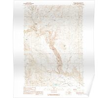 USGS Topo Map Oregon Becker Creek 278986 1990 24000 Poster