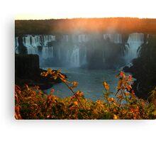 sunset at Iguassu Falls Canvas Print