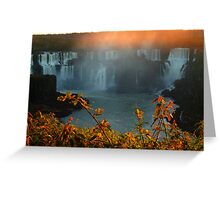 sunset at Iguassu Falls Greeting Card