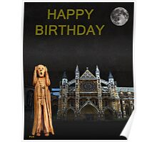 The Scream World Tour Westminster Abbey Happy Birthday Poster