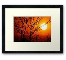 South African Sunset Framed Print