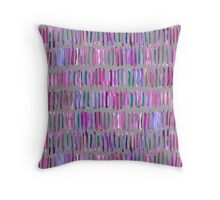Messy Watercolor Stripes in Pink and Purple Throw Pillow