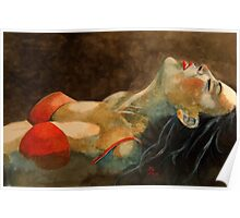 Soutien-gorge rouge  Poster