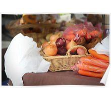 fresh food market Poster