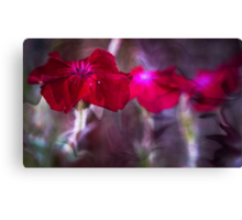 Red Flower Art Canvas Print
