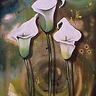 White Arum Lilies - Finding Beauty in Chaos Series by Cherie Roe Dirksen