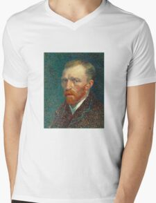 Vincent van Gogh - Self Portrait - Auto Portrait tshirt Mens V-Neck T-Shirt