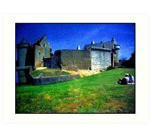 Chateau de Suscinio Art Print