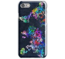 world map floral 2 iPhone Case/Skin
