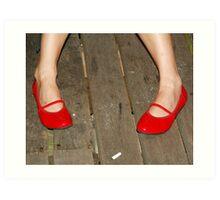 Red Shoes_Cigarette Butt Art Print