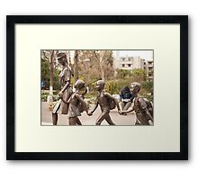 If you don't go to School, I'll call the cops! Framed Print
