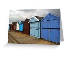 Highcliffe huts 3 Greeting Card