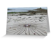 Washed away by the evening tide. Greeting Card