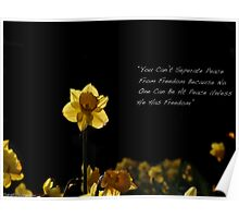 The Bright Yellow Flower Poster