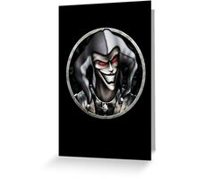 Halloween Dark Jester Greeting Card