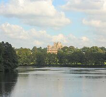 Wollaton Hall, Nottingham - view from the boat house by Nezodon