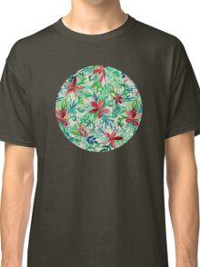 Vintage Tropical Floral - a watercolor pattern Classic T-Shirt