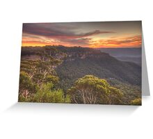 Blessing - Jamison Valley, Blue Mountains World Heritage  Area - The HDR Experience Greeting Card
