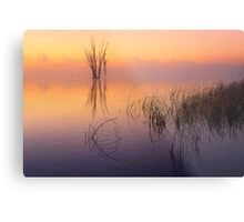 Misty dawn - Lake Mulwala Metal Print