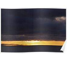 Stormy sunrise over Weymouth  Poster