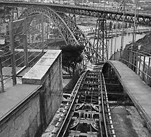 Funicular railway Oporto Portugal by Paul Pasco