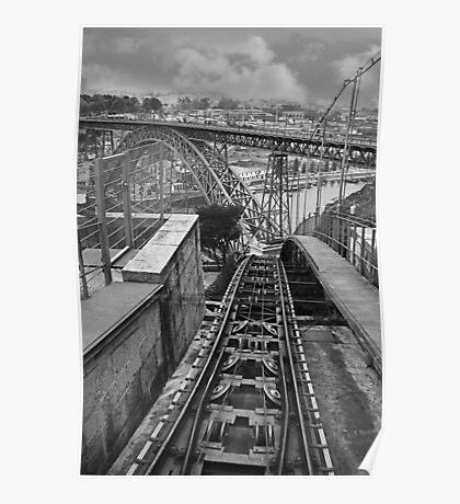 Funicular railway Oporto Portugal Poster