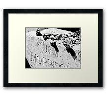 Jim Morrison grave Framed Print