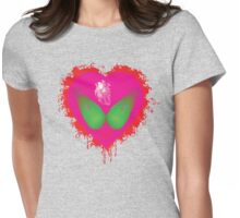 lovebomb iiis evol (blood splatter) Womens Fitted T-Shirt