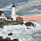 Maine Lighthouse by Carole Boyd