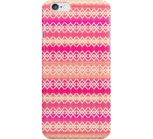 Coral and Pink Modern Geometric Tribal Pattern iPhone Case/Skin